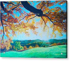 Pleasant Valley In Fall Acrylic Print by Samuel McMullen