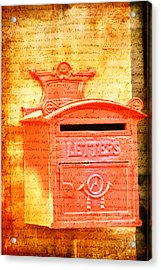 Please Mr Postman... Acrylic Print
