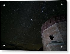 Pleiades Over Fort Jackson In Florida Keys Acrylic Print