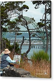 Plein Air Artist Acrylic Print by Methune Hively