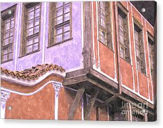 Plovdiv Old Town Acrylic Print by Hristo Hristov