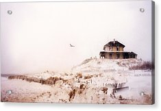 Plum Island Winter Acrylic Print by Karen Lynch