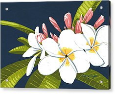 Acrylic Print featuring the painting Plumeria by Terry Taylor