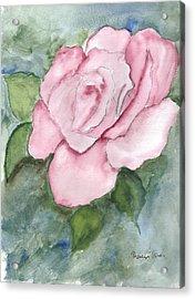 Pnk Rose Acrylic Print by Theresa Jones