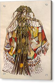 Pocahontas Acrylic Print by Karine Percheron-Daniels
