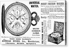 Pocket Watch, 1897 Acrylic Print by Granger