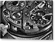 Pocket Watch Mechanism Acrylic Print by Maxim Sivyi