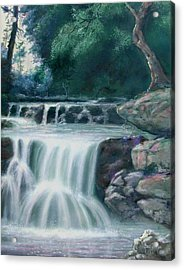 Pocono Mountains Waterfall Acrylic Print