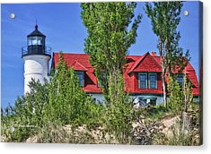 Acrylic Print featuring the photograph Point Betsie Lighthouse by Joan Bertucci