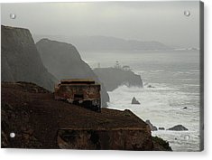 Acrylic Print featuring the photograph Point Bonita Lighthouse And Battery by Scott Rackers