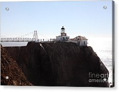 Point Bonita Lighthouse In The Marin Headlands - 5d19652 Acrylic Print by Wingsdomain Art and Photography
