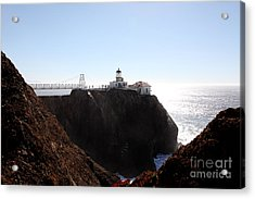 Point Bonita Lighthouse In The Marin Headlands - 5d19653 Acrylic Print by Wingsdomain Art and Photography