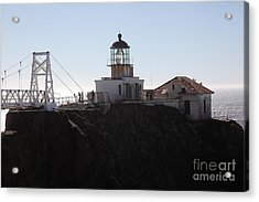 Point Bonita Lighthouse In The Marin Headlands - 5d19665 Acrylic Print by Wingsdomain Art and Photography