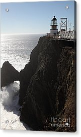 Point Bonita Lighthouse In The Marin Headlands - 5d19676 Acrylic Print by Wingsdomain Art and Photography
