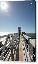 Point Bonita Lighthouse In The Marin Headlands - 5d19677 Acrylic Print by Wingsdomain Art and Photography