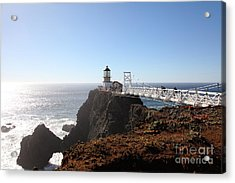 Point Bonita Lighthouse In The Marin Headlands - 5d19700 Acrylic Print by Wingsdomain Art and Photography