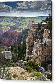 Point Imperial Cliffs Grand Canyon Acrylic Print by Gary Eason
