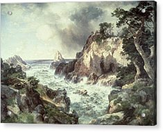 Point Lobos At Monterey In California Acrylic Print by Thomas Moran