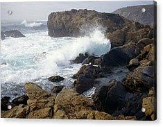 Point Lobos Whale Rock Acrylic Print by John Brink