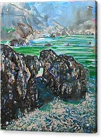 Point Lobos Window Rock Acrylic Print by Zolita Sverdlove