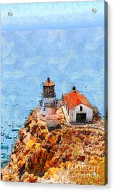 Point Reyes Lighthouse In California . 7d15989 Acrylic Print by Wingsdomain Art and Photography