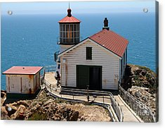 Point Reyes Lighthouse In California 7d15997 Acrylic Print by Wingsdomain Art and Photography