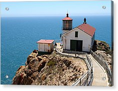 Point Reyes Lighthouse In California 7d16001 Acrylic Print by Wingsdomain Art and Photography