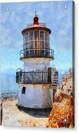 Point Reyes Lighthouse In California . 7d16008 Acrylic Print by Wingsdomain Art and Photography