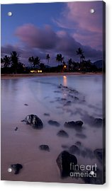 Poipu Evening Storm Acrylic Print by Mike  Dawson
