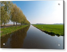 Acrylic Print featuring the photograph Polder Ditch by Hans Engbers