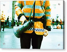 Police Officer Acrylic Print by Kevin Curtis