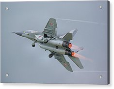 Polish Air Force Mig-29 Acrylic Print