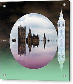 Political Bubble Acrylic Print by Sharon Lisa Clarke