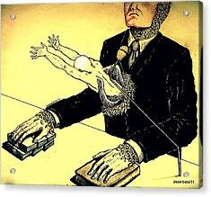 Politics Without Idealism Acrylic Print by Paulo Zerbato