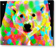 Polychromatic Polar Bear Acrylic Print by Anthony Caruso