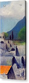 Pompeii Sketch 2 Acrylic Print by David Wiles