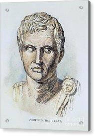 Pompey (106-48 B.c.) Acrylic Print by Granger
