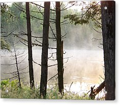 Acrylic Print featuring the photograph Pond In Jackman by Robin Regan