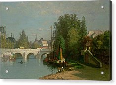 Pont Du Carrousel Acrylic Print by JJ Enneking
