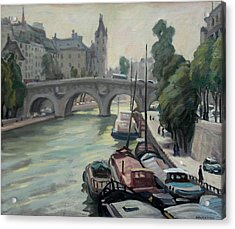 Pont Neuf A Paris Acrylic Print by Thor Wickstrom