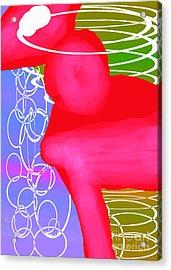 Ponyrose Acrylic Print by Toteto Toteto