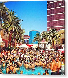 Pool Party At #encorehotel Acrylic Print