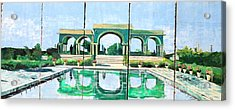 Poolside In Basrah Acrylic Print by Unknown - Local Iraqi National