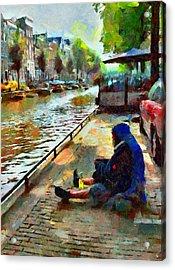 Poor In Amsterdam Acrylic Print