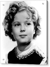 Poor Little Rich Girl, Shirley Temple Acrylic Print by Everett