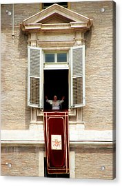 Pope Benedict Xvi A Acrylic Print by Andrew Fare