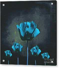 Poppies Fun 01 - Bb Acrylic Print by Variance Collections