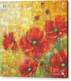Acrylic Print featuring the painting Poppies On A Sunny Day by Kathleen Pio