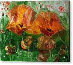 Acrylic Print featuring the painting Poppies by Raymond Doward