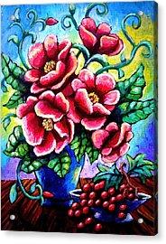 Poppin' Poppies Acrylic Print
